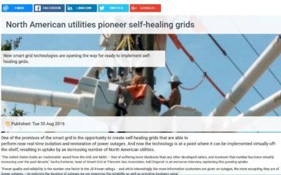 North American utilities pioneer self-healing grids
